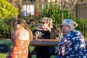 Drinks in the Bago tavern beer garden